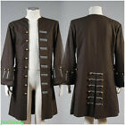 COOL  the Caribbean Jack Sparrow Halloween COSplay Costume Coat Outfit Suit