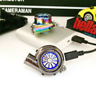 Key Chain USB Rechargeable Electric Turbo Lighter LED Pendant Car