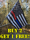 white red blue flags - Thin Blue & Red Line First Responders American Flag 3x5 ft Black & White US NEW!