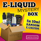 50ML ELIQUID MYSTERY BOX | 5X RANDOM 10ML | NAKED FISH | RIOT SQUAD | VGOD | R66
