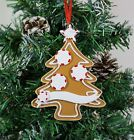 Personalised Family of 3,4,5 Christmas Tree Ornament - Gingerbread Tree Decor
