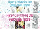 Personalised Christening Banners Photo Baptism Naming Day Boys girls Blue Pink
