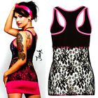 METAL MULISHA Betsey Black & Pink Lace Back Cami Rose Johnson Tattoo Tank Top