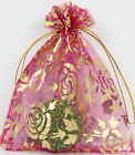 100pc Sheer Organza Wedding Party Favor Gift Candy Bags Jewelry Pouches 12 Color