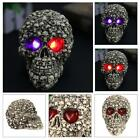 Halloween Statues Sculpture Skull Eeys Light Lamp Holiday Home Decoration