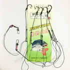 1pcs 7-12# 5 in 1 String Fishing Hook Bait Holder Hooks Tackle Durable Strong
