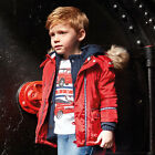 Mayoral Boys Nautical Parka with Faux Fur Hood in Red ( Aged 2-8)