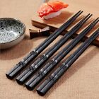 4 Pairs Japanese Style Chopsticks Alloy Non-Slip Sushi Chop Sticks Chinese Gift