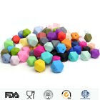 50Pcs Hexagon Silicone Teething Beads Baby Chew Necklace DIY Teether Making