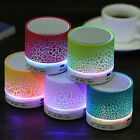 Hot A9 Bluetooth Wireless Speaker with Colorful Led Light Crack Design Low Bass