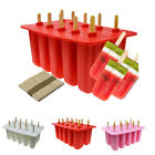 10x Ice Cream Mould Popsicle Maker Lolly Mould Tray Pan Kitchen DIY Pop Mold New