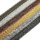 Wholesale 10M Mixed Cable Metal 14K Gold Plated Link Chain Findings DIY 2mm*3mm
