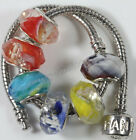 5Pc Glass Murano Loose Space Big Hole Bead Jewelry Finding Fit European Bracelet