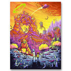 Summer Rick and Morty Funny Cartoon Canvas Poster Art Prints 8x11 12x16 inch