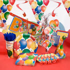 BALLOONS HAPPY BIRTHDAY PARTY DECORATIONS (cups, plates, napkins, hats, banners)