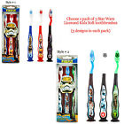 Pack of 3 Licensed Star Wars Toothbrush Suction Cup Stand Kids Soft Tooth Brush $14.99 AUD