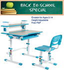 Children's Height Adjustable Desk & Chair with FREE Pencil Holder Cup - Einstein