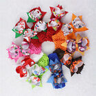 Lot  50/100/200pc Clips Boutique Girl Crochet Hairbands With Hair bows 4in 252-P