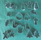 Xmas Mini Sugar Paste, Cookie cutters, Tree, Snowman, Gingerbread, Angel, Mitten
