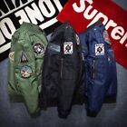 Man MA1 Flight Bomber Coat Woman Embroidered Cotton Outwear Padded Winter Jacket