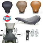 Classic Brown Black Solo Seat For Harley Softail Rigid Bobber Chopper Sportster
