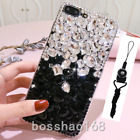 Jewelled Bling Crystal Rhinestone Diamond Soft phone cover case & neck strap #A