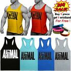 Mens Animal Muscle Workout Fitness Athletic Gym Training Tank Tops Undershirts