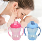 Baby Infant Straw BPA Free Sippy Cup Learning Drinking Handle Bottle