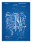 1906 Mail Box Letter Carrier Postman Patent Print Art Drawing Poster