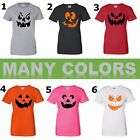 Ladies Funny Pumpkin Face Shirt Mix Halloween Costume Gift Jack O' Lantern Tee