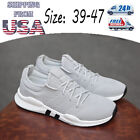 Men Plate Shoes Athletic Running Casual Sports Sneakers Breathable Plus Size Gym