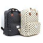 Korean Fashion Women Girl School Travel Backpack Big Bag PVC Black Ivory Simple