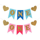 Baby 1st Birthday High Chair Decoration Baby Shower Boy Party Banner Garland ONE