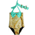 Kids Girls Bikini One Piece Mermaid Tail Fin Swimwear Swimsuit Bathing Beachwear