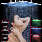 20 Inch Luxury Square Shower Head LED Rain Shower Heads Top Ceiling Chrome Black