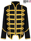 Mens Military Army Gold Hussar Drummer Officer MCR Music Festival Parade Jacket