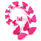12pcs 3D Butterfly Sticker Wall Decal Decals Kids Home Decor Magnet Removable