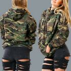 Womens Hoodie Sweatshirt Jumper Sweater Camouflage Coat Sports Pullover Tops