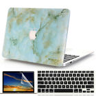 """3in1 Green Marble Griotte Matte Case for MacBook Air Pro 13"""" 15""""  2016 Touch Bar"""
