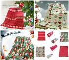 Christmas Theme Xmas Super Soft Polar Fleece Throw / Blanket 127cm x 152cm