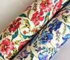 Poppy Pink Orange Blue Purple Pure Cotton Floral Fabric Fat Quarter Half Metre