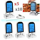 LOT LCD Remote Probe Thermometer Fr BBQ Grills Meat Kitchen Oven Food Cooking EJ