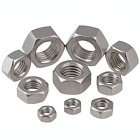 304 Stainless Steel (DIN934) Metric Hexagon Full Nuts M1-M30 - Fit Washers/Bolts
