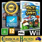 (Wii Game) Wacky World Of Sports (G) PAL, Guaranteed, Cleaned, Tested