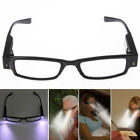 +1.0~+4.0Rimmed Reading Eye Glasses Eyeglasses Spectacal With LED Light Black