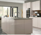 Integrated Handle Cashmere Gloss 22MM Double Painted JProfile Kitchen Fronts