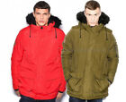 NEW MEN'S DESIGNER BELLFIELD 'OXIDE' RETRO MOD PARKA FAUX FUR HOODED JACKET COAT