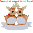 personalized family ornaments - MAXORA Reindeer Family of 2 3 4 5 6 7 Personalized Ornament Christmas Gift 2017