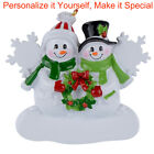 MAXORA Personalized Christmas Tree Ornament Snowman Family of 2 3 4 5