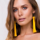 NEW TASSEL TASSLE FRINGE LONG EARRINGS BOHO LADIES GIFT UK SELLER